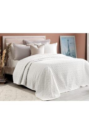 Madame Coco Evelyn King Size Yatak Örtüsü - Beyaz