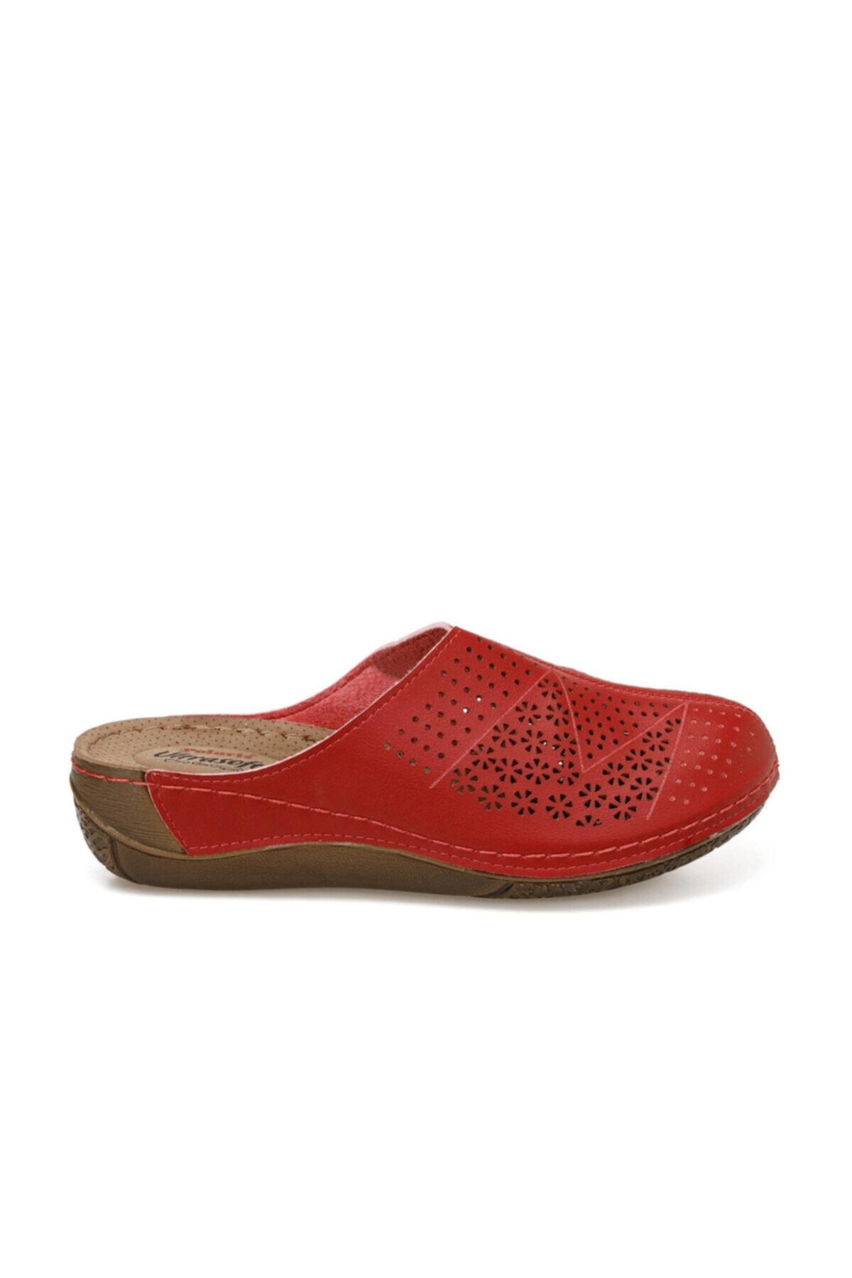 Polaris 91.158560.ZFAS Kırmızı Kadın Terlik 100524616 2