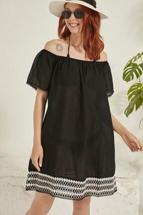 C&City Kadın Pareo Plaj Elbisesi 21910 Siyah