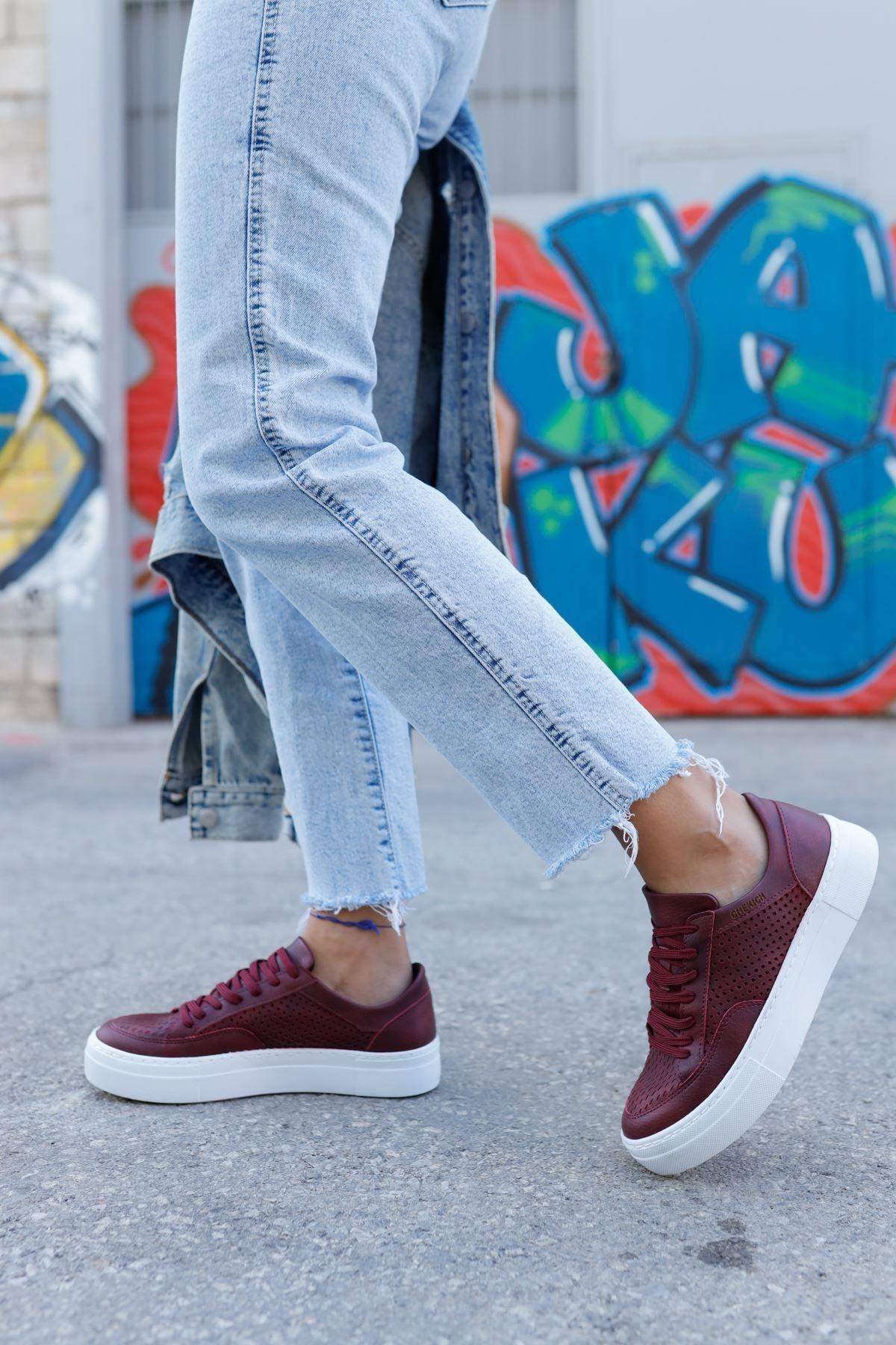 Chekich Ch015 Bt Kadın Ayakkabı Bordo 2