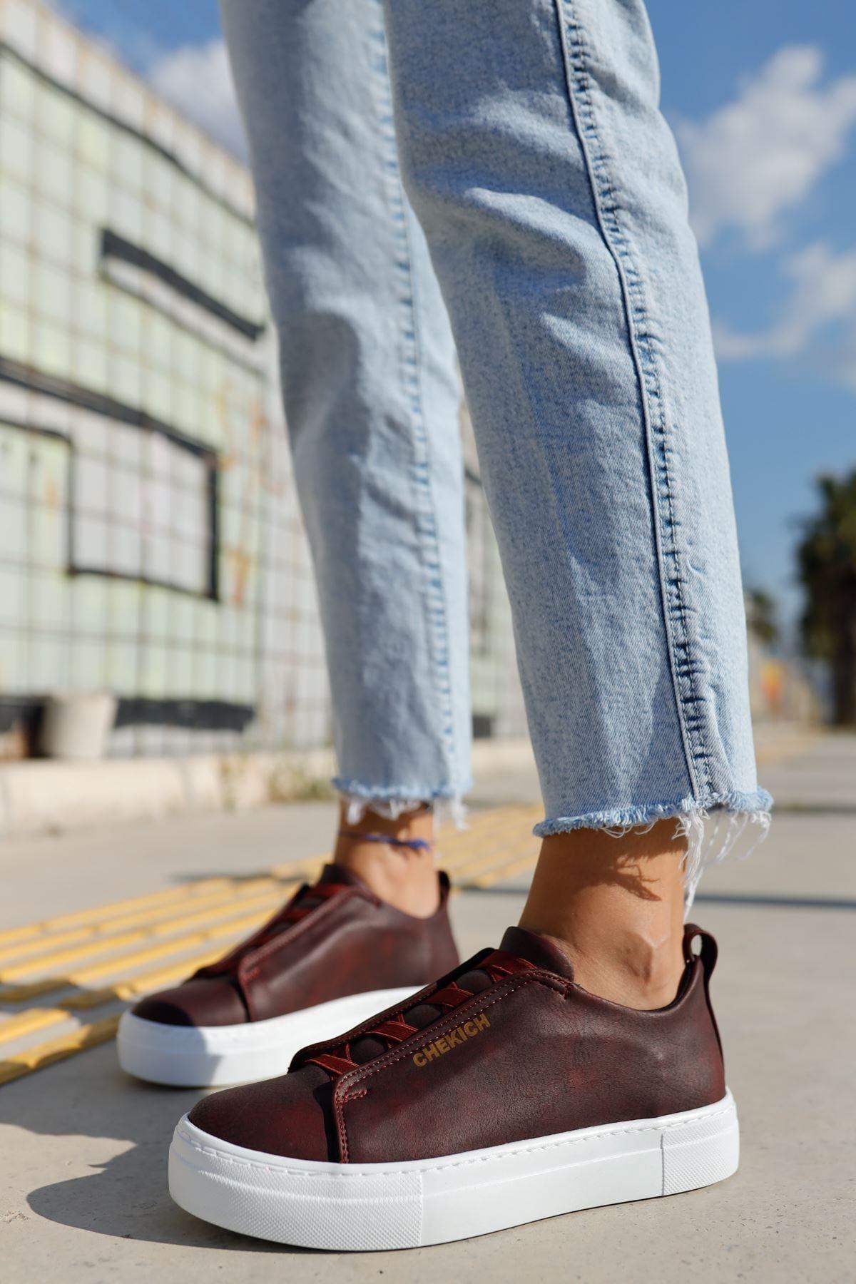Chekich Ch013 Bt Kadın Ayakkabı Bordo 1