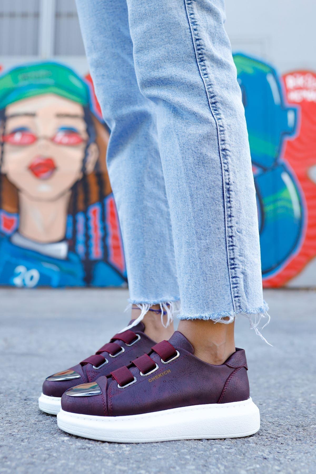 Chekich Ch251 Bt Kadın Ayakkabı Bordo 2
