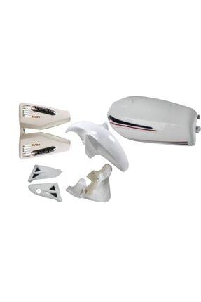 Mondial 125 Cg Moderllerine Uyumlu Kaporta Seti Komple Beyaz