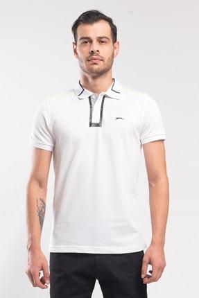 Slazenger PHILIP Erkek T-Shirt Beyaz ST10TE100
