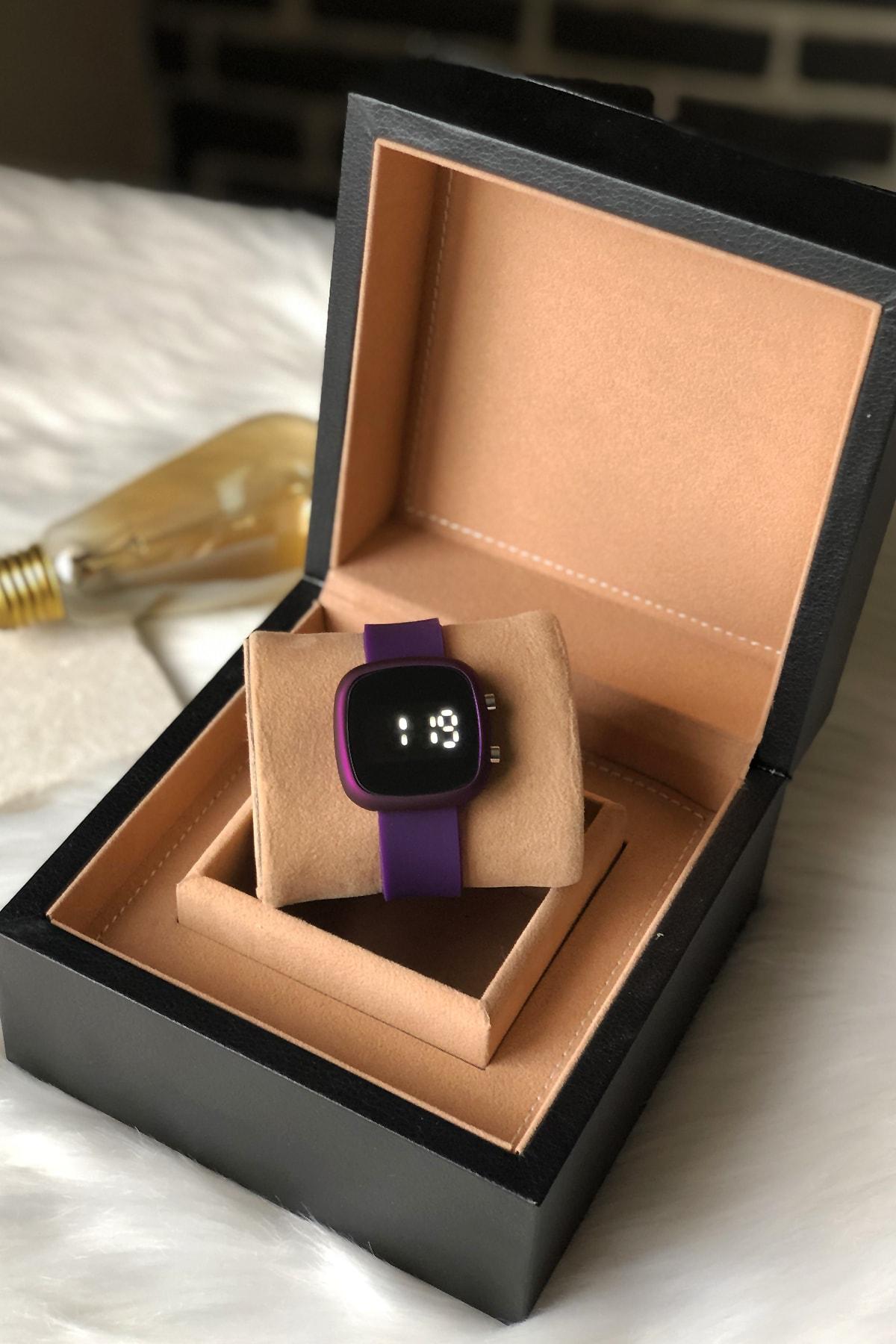 Ricardo Saat Kadın Mor Renk Silikon Kordon Dijital Kol Saati 2