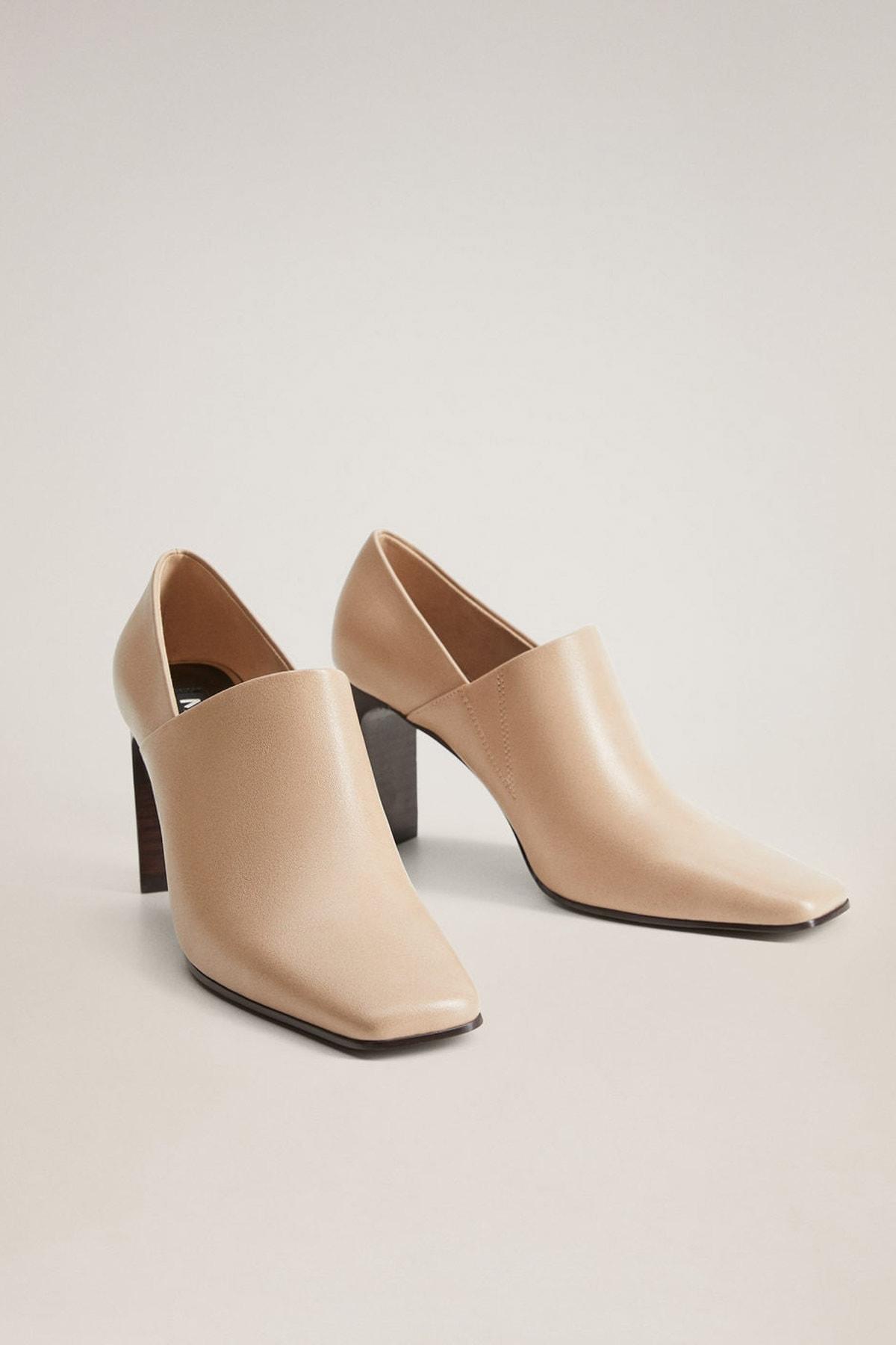 MANGO Woman Kadın Bej Ucu Sivri Topuklu Sandalet 77046308 2