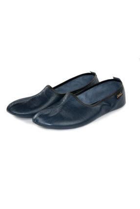 Akdam Erkek Lacivert Deri Hac Umre Tavaf Ve Ev Ayakkabısı