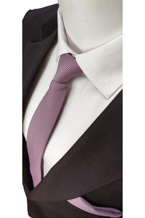 Elegante Cravatte Lavanta Renginde Armürlü Dokuma Kravat