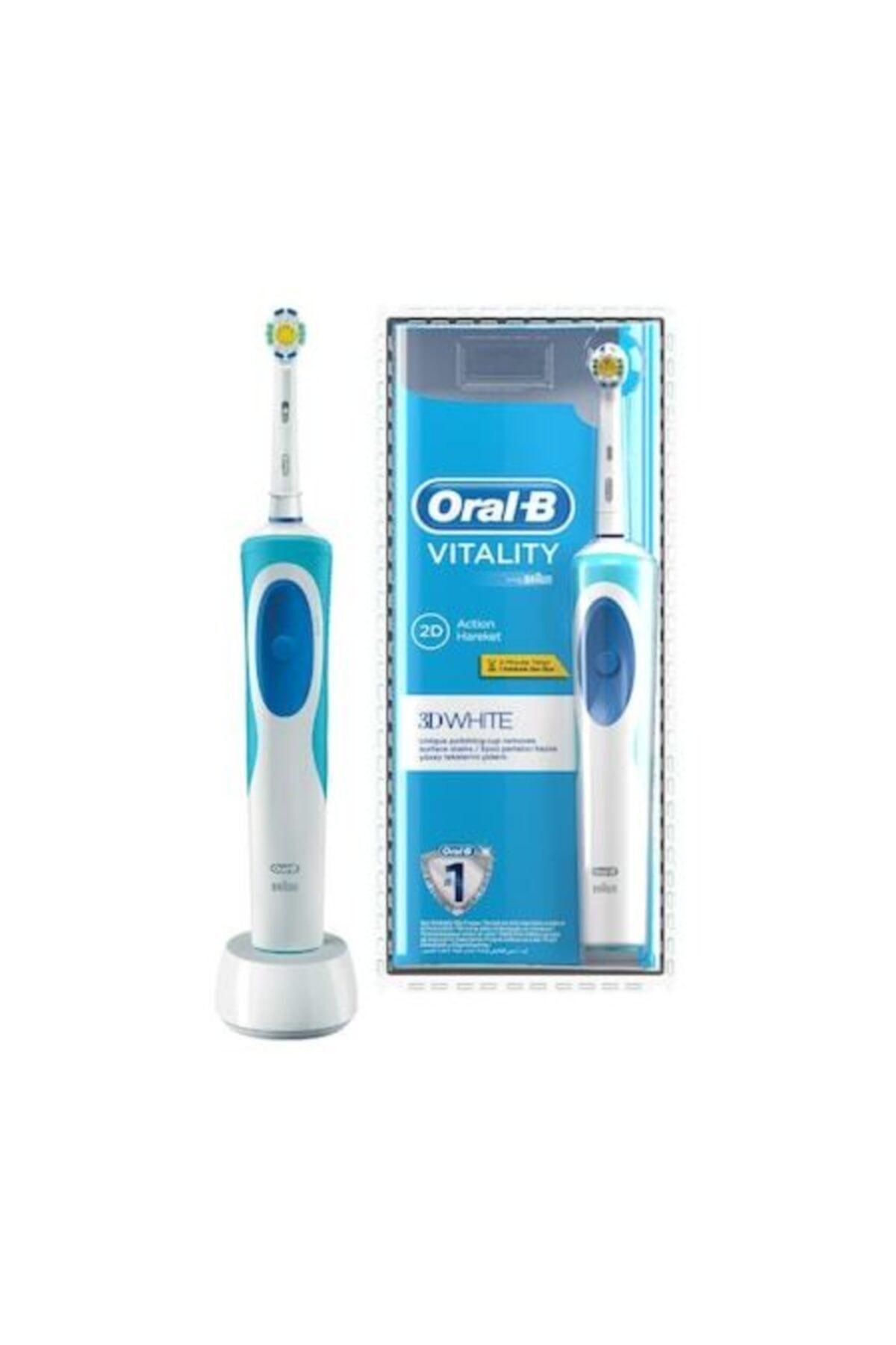 Oral-B Vitality Şarj Edilebilir Diş Fırçası 3D White 1