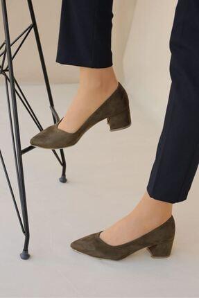 LDÇ Kadın Haki Topuklu Ayakkabı S