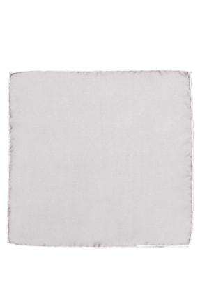 ALTINYILDIZ CLASSICS Erkek Gri-Beyaz Cep Mendili