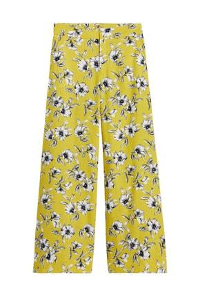 Banana Republic Kadın Sarı High-Rise Wide-Leg Pantolon 583695