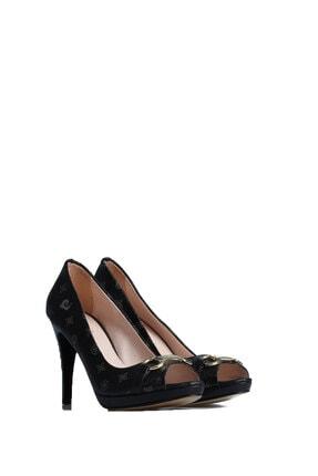 Pierre Cardin Kadın Siyah Günlük Topuklu Ayakkabı 45117