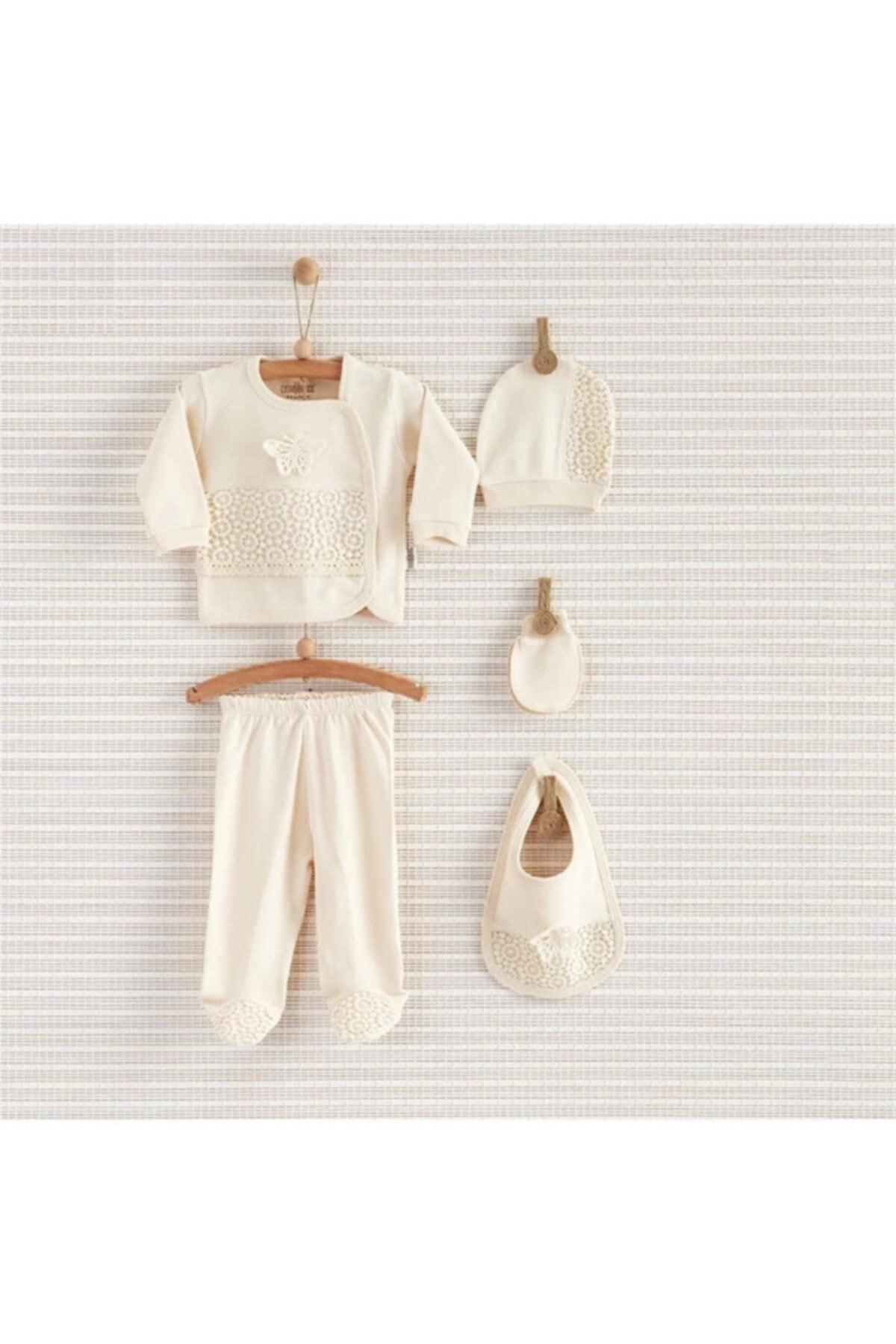 Bebbek Kız Bebek 5Li Hastane Çıkış Seti 1