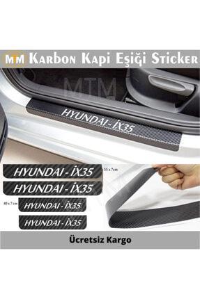 Adel Hyundai Ix35 Karbon Kapı Eşiği Sticker (4 Adet)