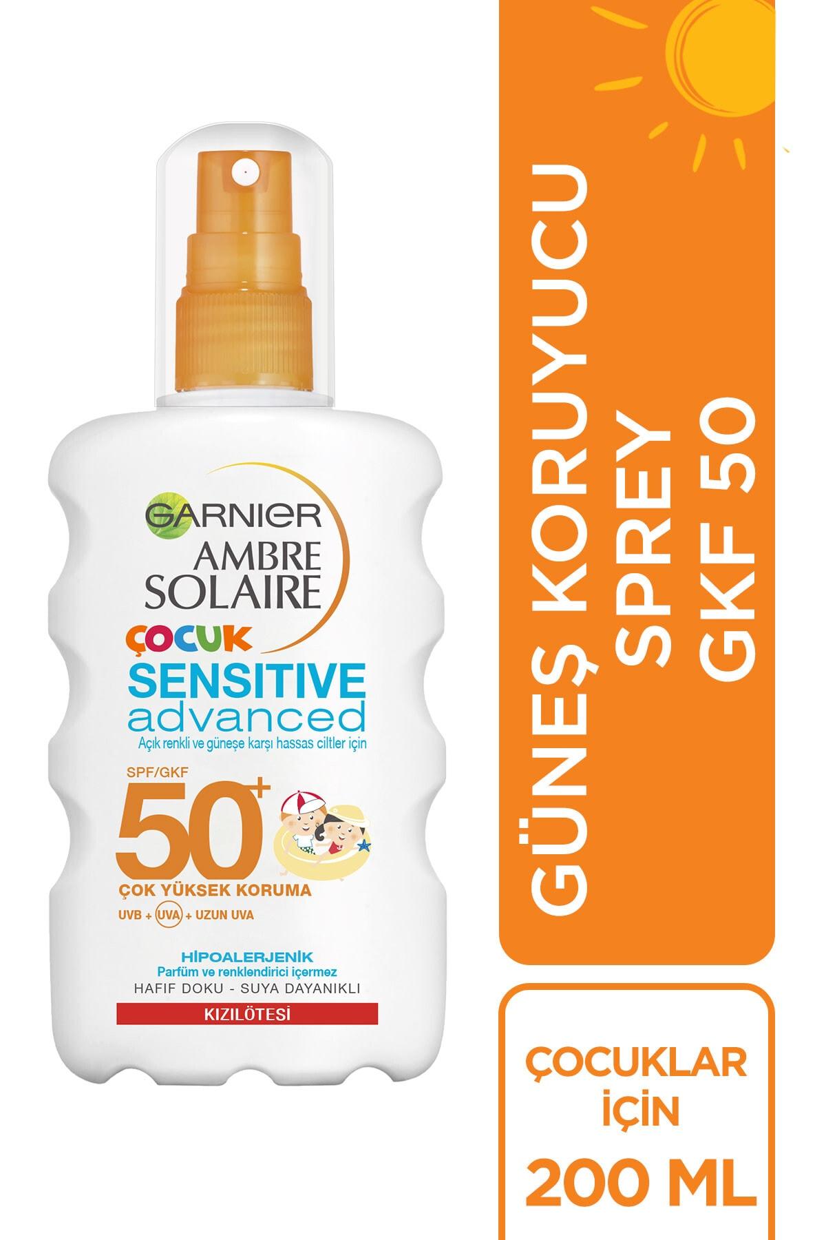 Garnier Ambre Solaire Sensitive Advanced Çocuk Sprey Gkf50+ 200ml 1