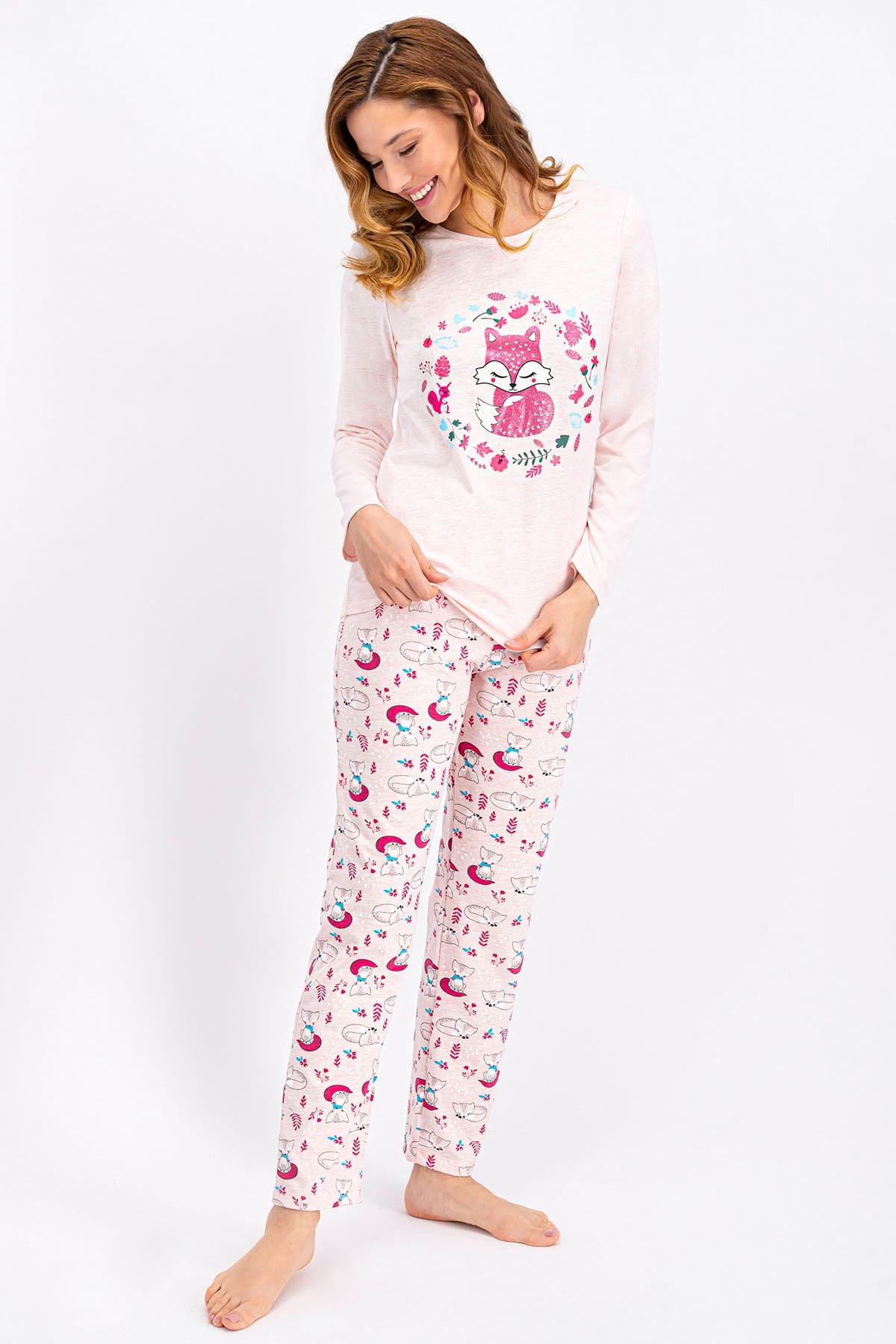 ROLY POLY Pembemelanj Little Fox Kadın Pijama Takımı 1