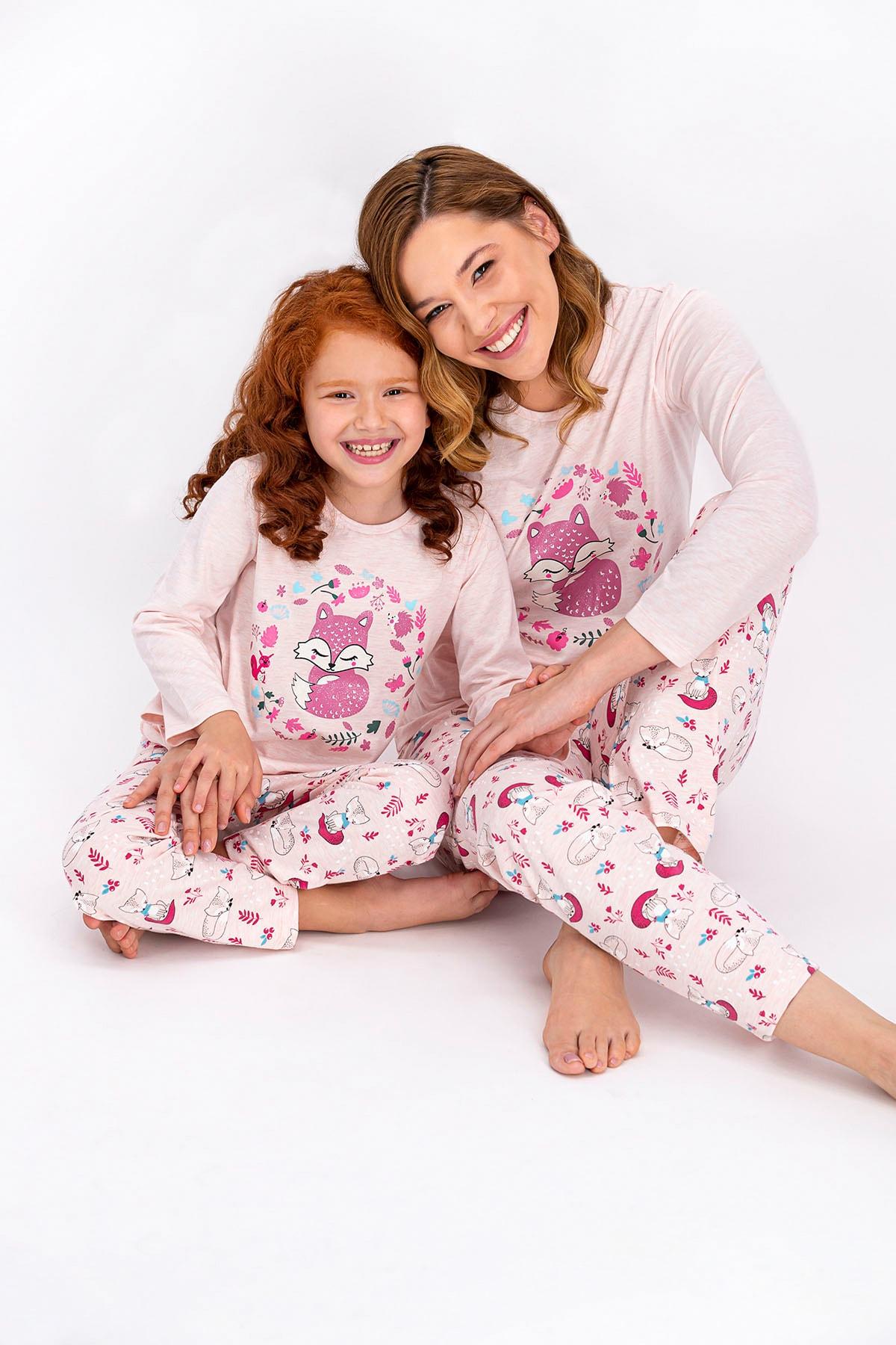 ROLY POLY Pembemelanj Little Fox Kadın Pijama Takımı 2
