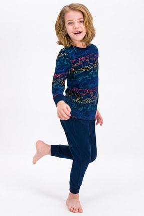 ROLY POLY Lacivert Dino Erkek Çocuk Pijama Takımı
