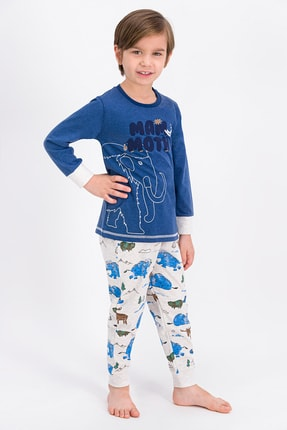 ROLY POLY Lacivertmelanj Mammoth Wild Erkek Çocuk Pijama Takımı