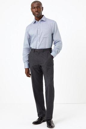 Marks & Spencer Erkek Lacivert Ütü Gerektirmeyen Regular Fit Gömlek T11001268U