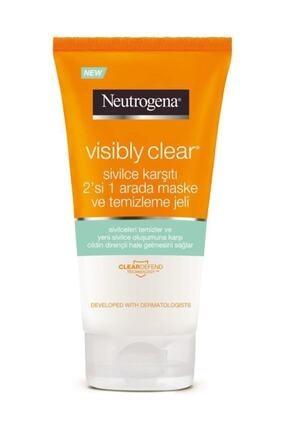 Neutrogena Visibly Clear Sivilce Karşıtı 2'si 1 Arada: Maske+Temizleme Jeli 150 ml