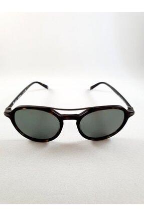 Façonnable Faconnable Oval Tasarım Kahverengi Siyah Kemik Çerçeveli Unisex Güneş Gözlüğü
