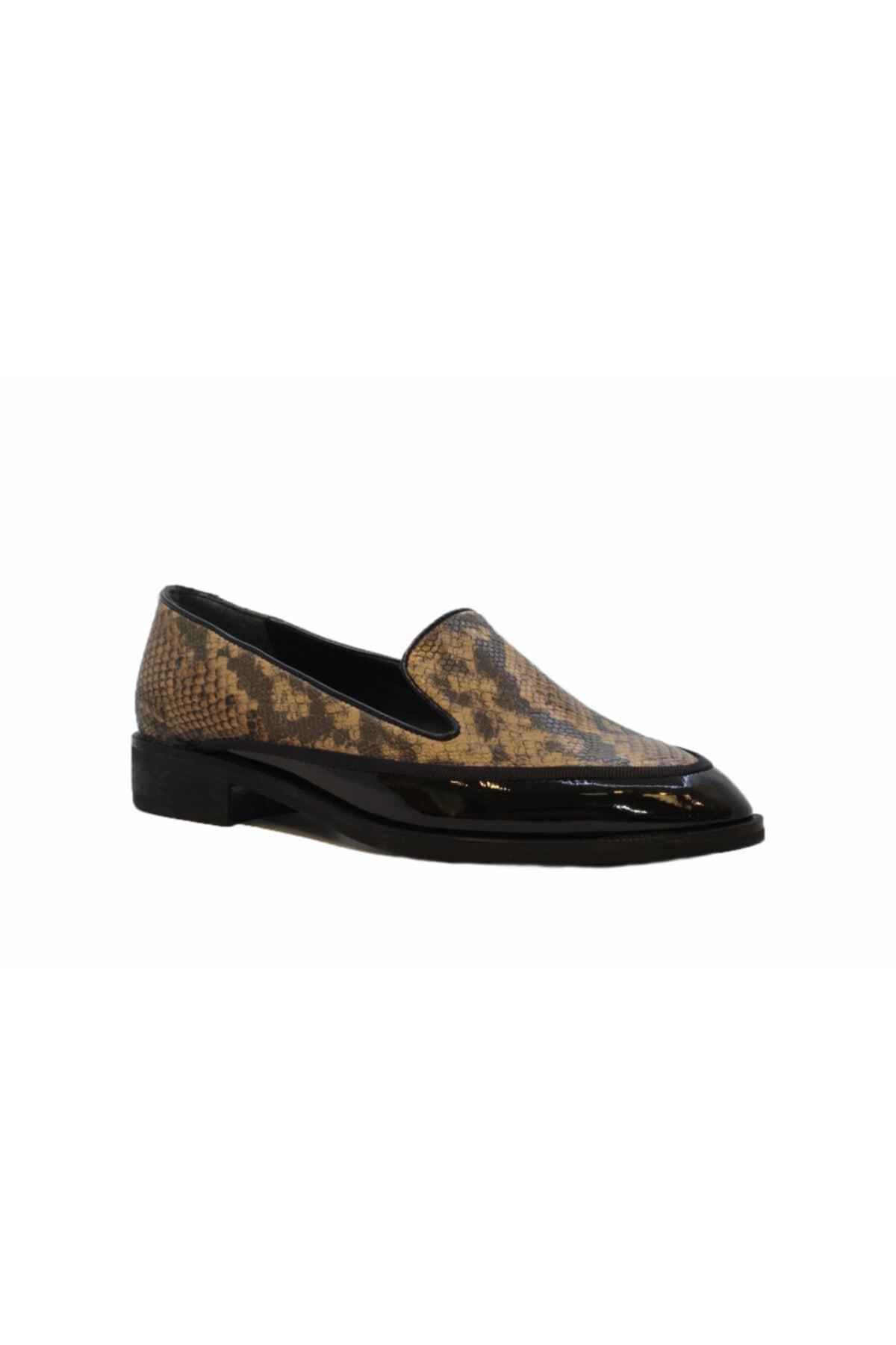 DİVUM Siyah Rugan Yılanlı Ayakkabı 2