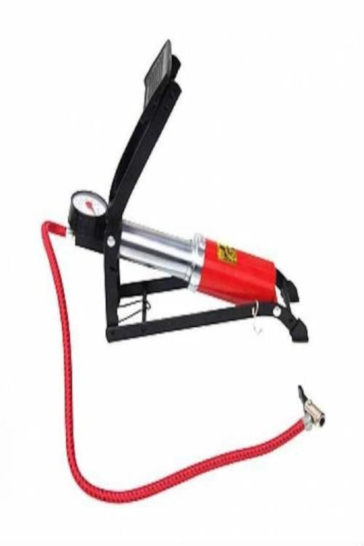 adisda Basınç Göstergeli Ayak Pompası Top Şişirme Araç Lastik Şişirme 2