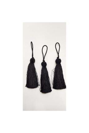 Hobigram Siyah Topuzlu Tekli Püskül 12cm 1 Adet