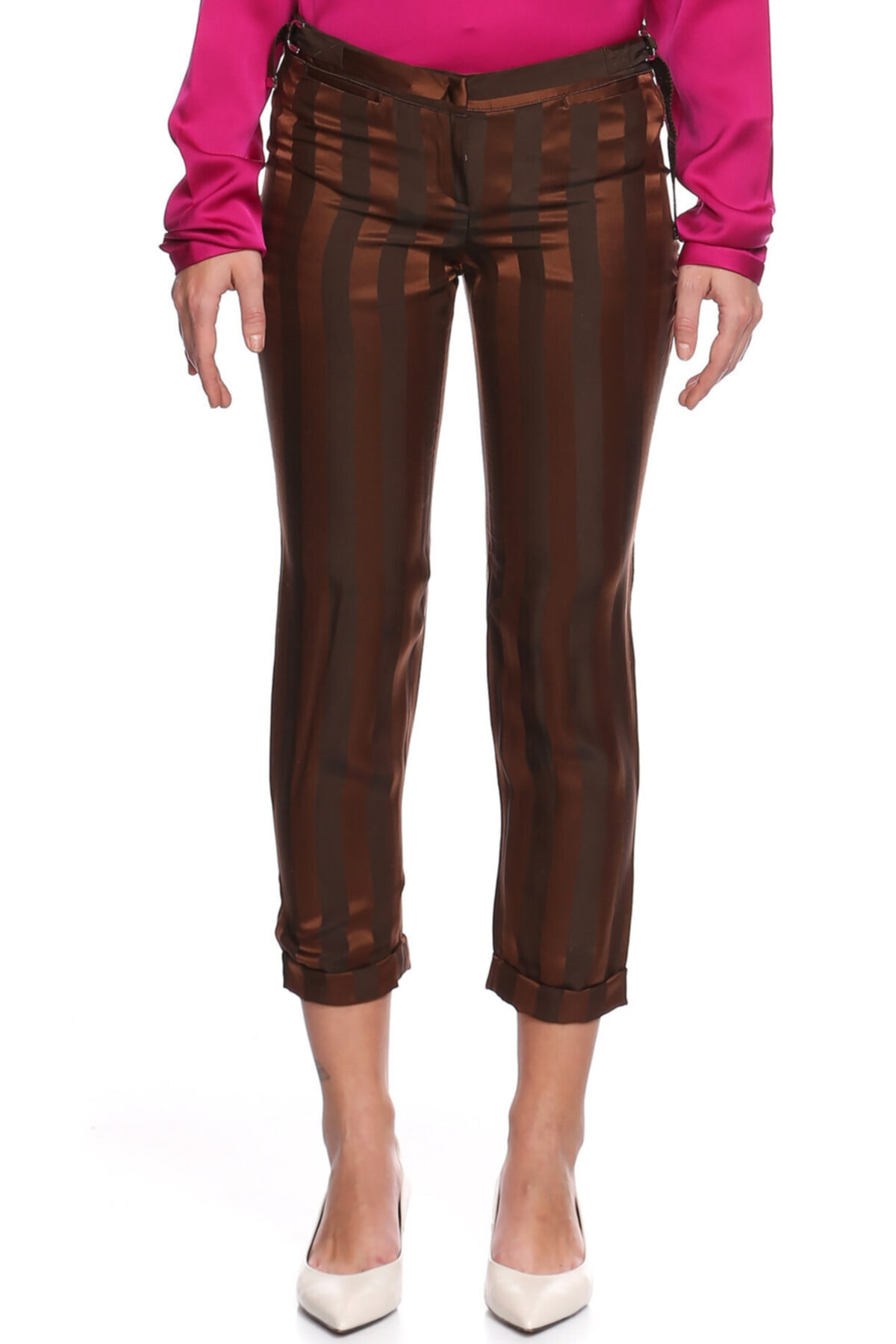 Costume National Kadın Kahverengi Pantolon 1