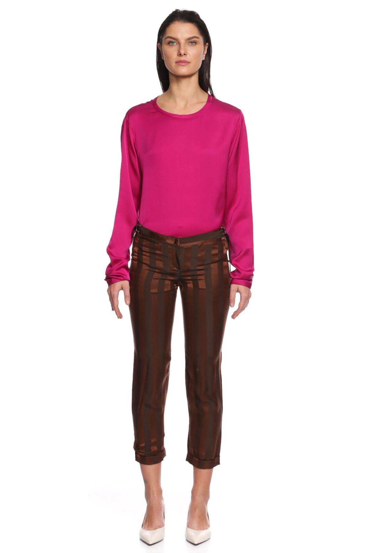 Costume National Kadın Kahverengi Pantolon 2