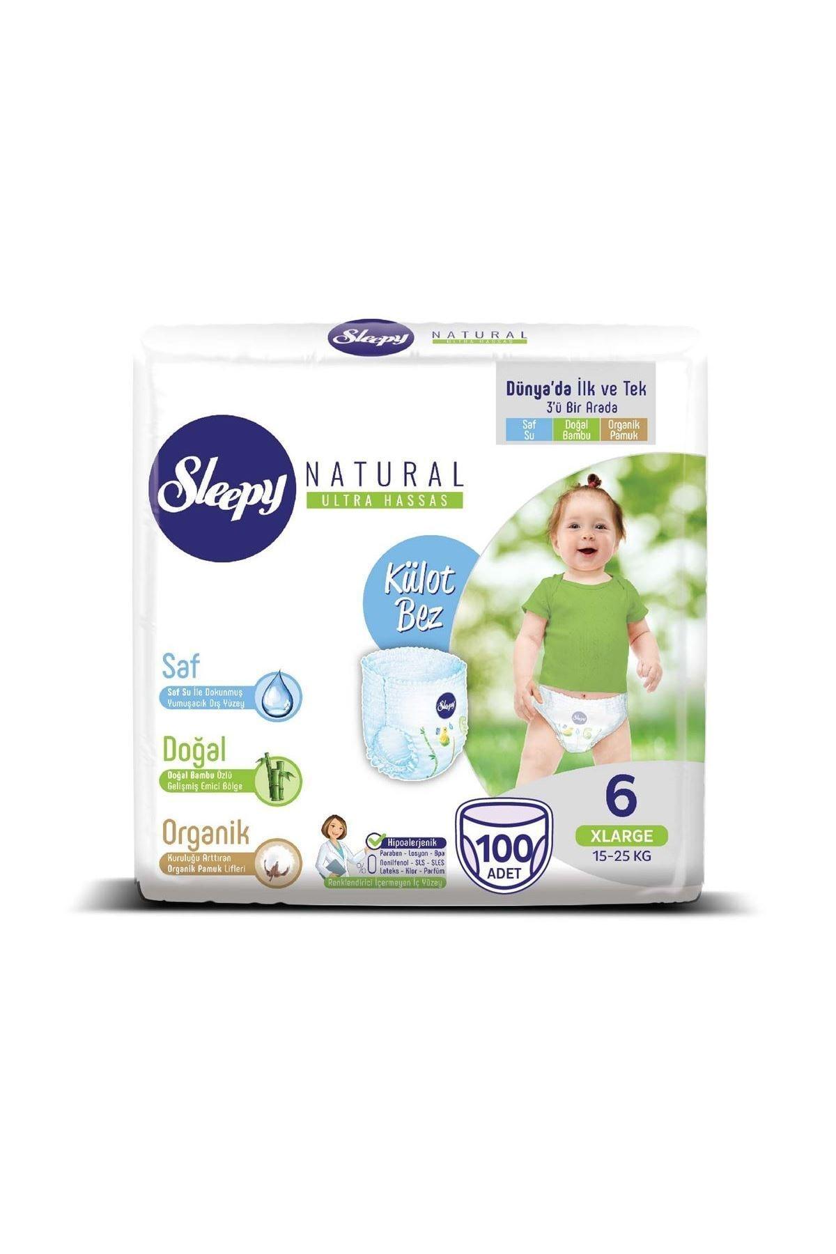 Sleepy Natural Külot Bez 6 Numara Xlarge Süper Fırsat Paketi 100 Adet 2