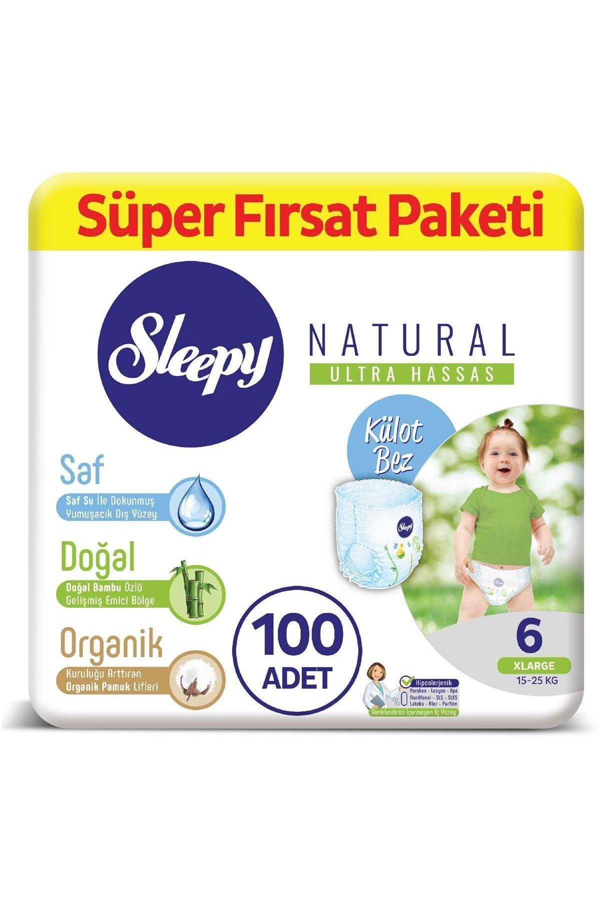 Sleepy Natural Külot Bez 6 Numara Xlarge Süper Fırsat Paketi 100 Adet 1