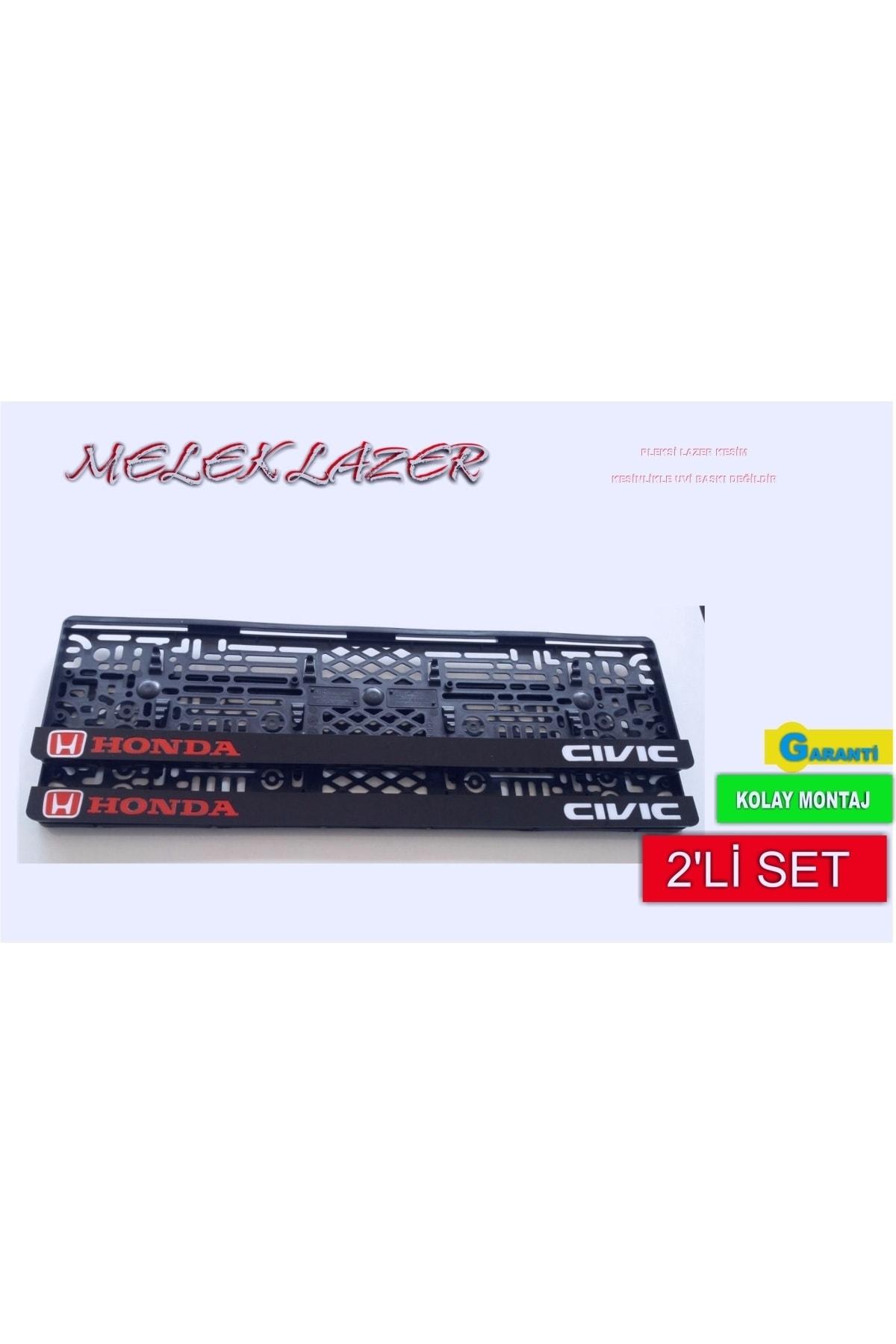 3M Honda Cıvıc Yazılı Takmatik Lazer Kesim Pleksi Plakalık 1