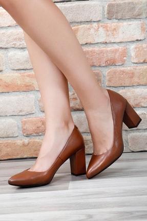 G.Ö.N Gön Hakiki Deri Kadın Topuklu Ayakkabı 14007