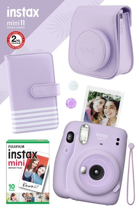 Fujifilm Instax Mini 11 Lila Fotoğraf Makinesi Ve Hediye Seti 2