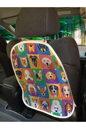 Rengirenk Hayvan Deseni Araba Koltuğu Koruyucusu Sevimli Köpek Kolajı
