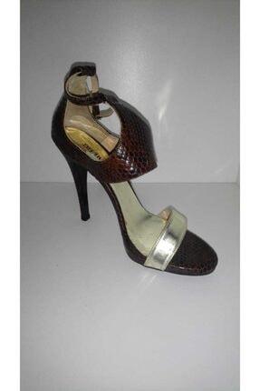 Dıvarese Kadın Kahverengi Topuklu Ayakkabı