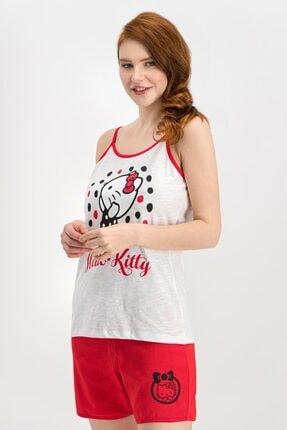 Hello Kitty Kadın Ekru Şort Takım L1103-s