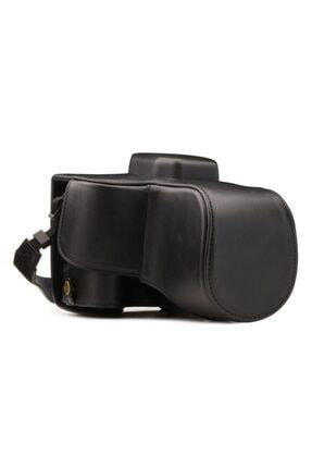 MegaGear Canon Sl2 Kiss X9 200d(18-55mm) Suni Deri Fotoğraf Makinesi Kılıfı