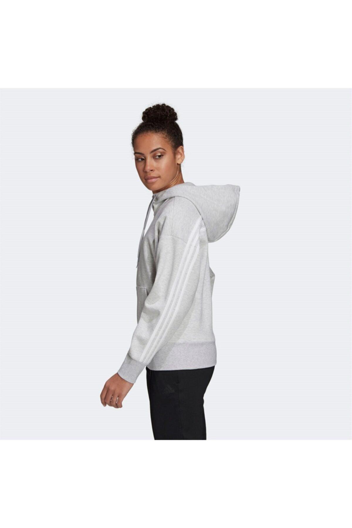 adidas Kadın Gri Sweatshirt W 3s Dk Fz S Hd 2