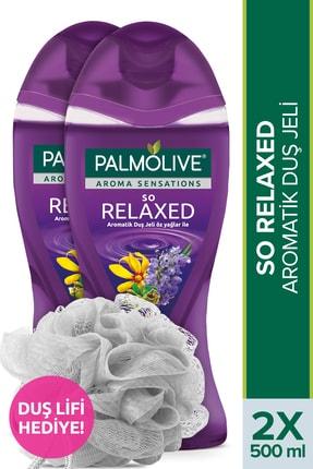 Palmolive Aroma Sensations So Relaxed Aromatik Banyo ve Duş Jeli 500 ml x 2 Adet + Duş Lifi Hediye