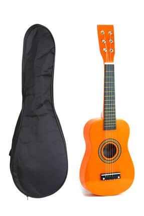 PM Turuncu Çocuk Gitar 3-4 Yaş Için Kılıf Hediyeli