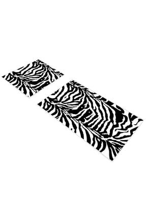 EXCLUSIVE Toprak Dijital Banyo Takımı 2 Parça Sadie Siyah Beyaz