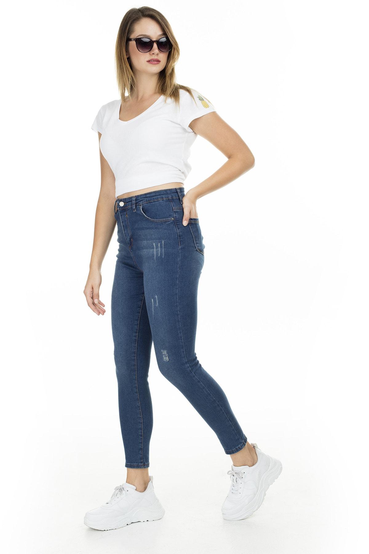 Lela Kadın Yüksek Bel Skinny Jeans Kot Pantolon 58713266