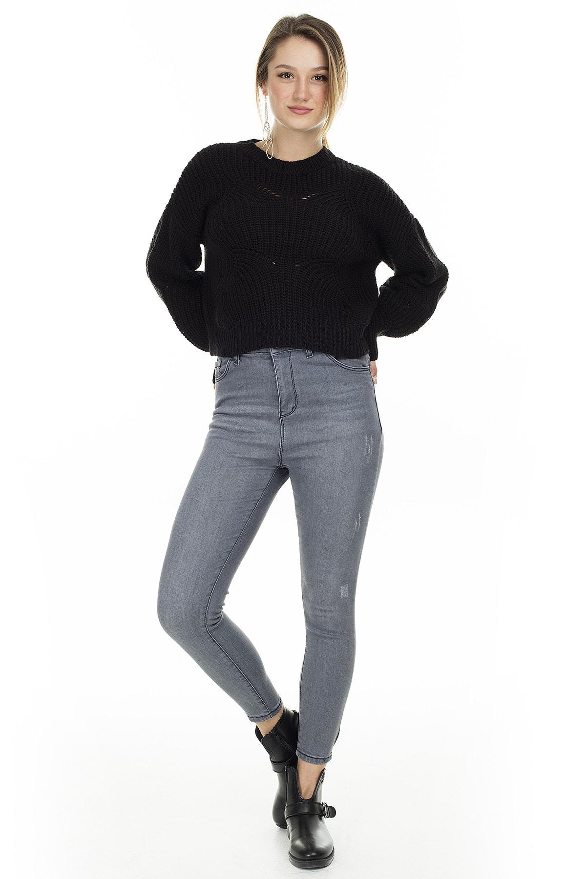 Lela Yüksek Bel Skinny Jeans KADIN KOT PANTOLON 58713269