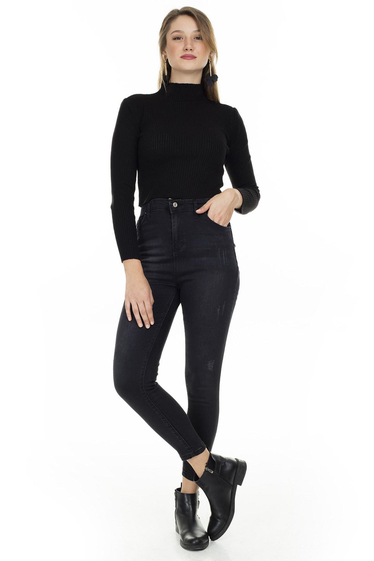 Lela Yüksek Bel Skinny Jeans KADIN KOT PANTOLON 58713263