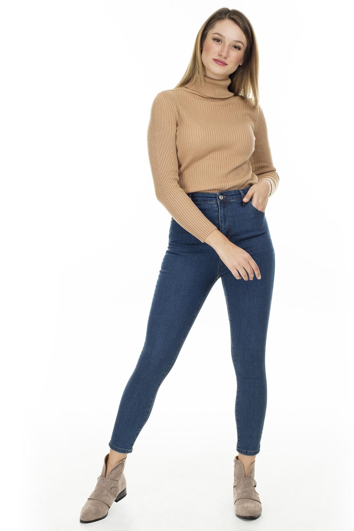 Lela Yüksek Bel Skinny Jeans KADIN KOT PANTOLON 58714859