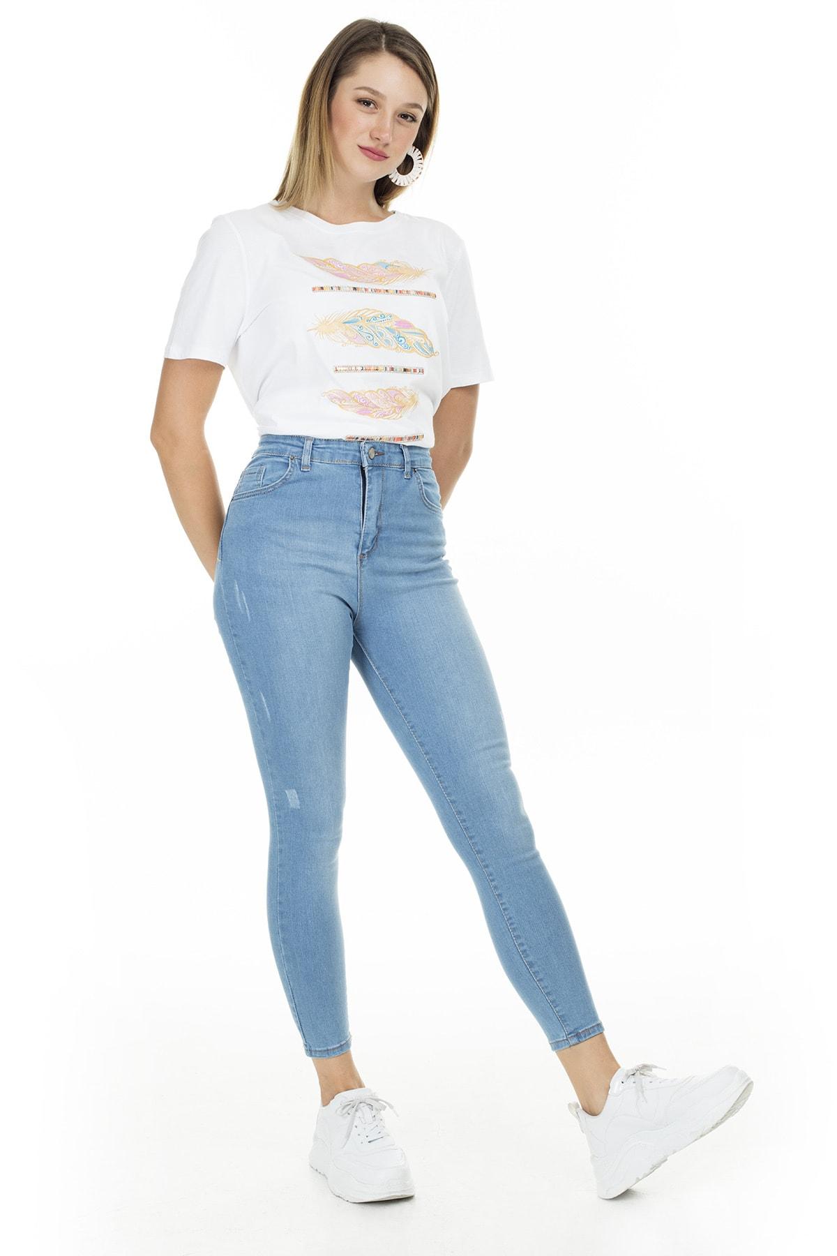 Lela Yüksek Bel Skinny Pamuklu Jeans KADIN KOT PANTOLON 58713261